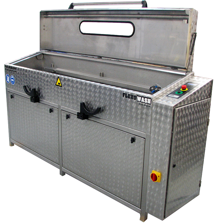 a flexo wash parts washing cleaning unit